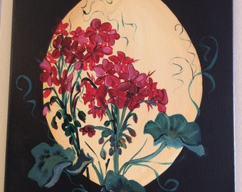 """Geraniums in the Sunlight - on a 12"""" x 16"""" canvas"""