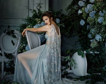 Marchesa - Opulent Couture Crystal Embroidered Cape