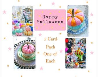 Whimsical Halloween Fun - 5 Postcard set