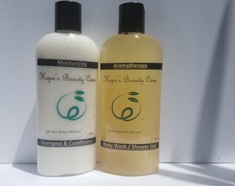 Natural Moisturizing Body Wash & Natural Shampoo and Conditioner Bundle Set