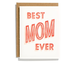 Best Mom Ever - Letterpress Holiday Card - CHB166