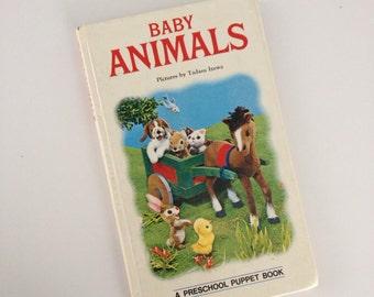 1971 Baby Animals Board Book by Tadasu Izawa - Japan