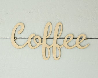 Coffee Sign | Wood Coffee Sign | Coffee Station | Farmhouse Decor | Free Shipping