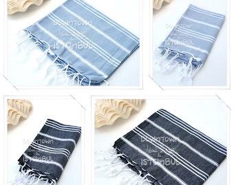 HEAD TOWEL SET of 4 Peshkir Face Towel Hair Towel Tea Towel Kitchen Towel Hand Towel Dish Towel Guest Towel Bathroom Towel Gift Towel