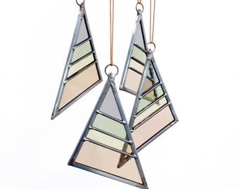 Stained Glass Triangle - Spring Large