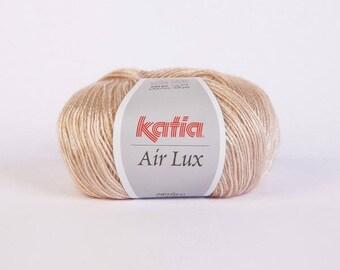 Ball of yarn Katia Air lux beige 68