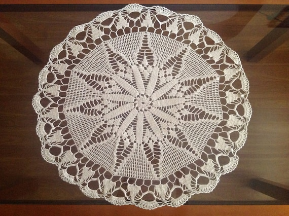Handmade Doily Crochet Large Cotton Tablecloth Decoration Handmade doilies Wedding round centerpiece Crocheted lace Mothers day Gift for Mom