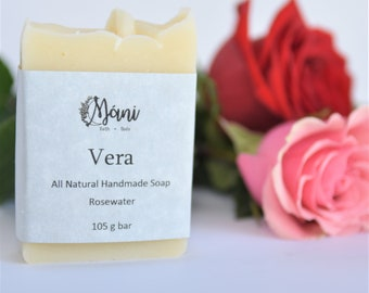 All Natural Handmade Rosewater Soap