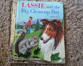 Lassie and the Big Clean up Day, Little Golden Book