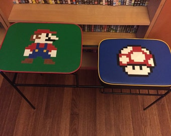 Mario inspired phone table