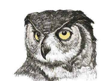 Owl Art Print - Just An Owl