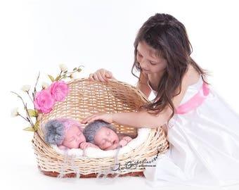 Vintage Prop Newborn Hat Winter Newborn Prop Baby Prop Photo prop Flower Hat Crochet prop Twins prop baby photo prop Romantic baby prop