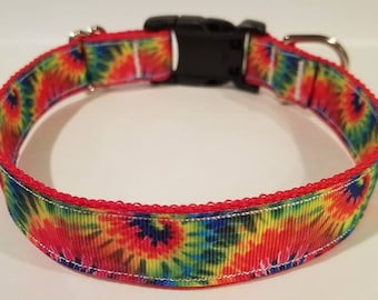 Groovy TyeDye dog collar
