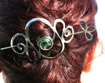 Hair barrettes Brass and Silver