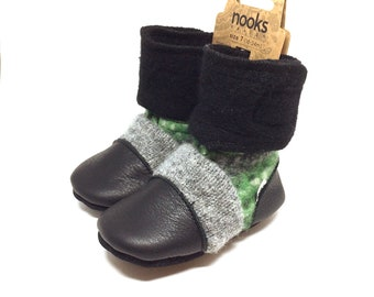 """Nooks Design toddler booties, US Size 7 / 18-24m / 5.5"""" length"""
