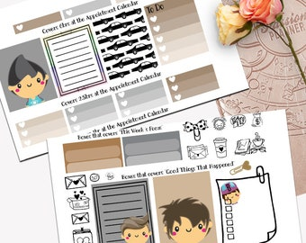 Supernatural Theme Planner Weekly Sticker SMALL Kit, Passion Planner Sticker, Weekly Set, Sticker, Printed, Cut, Adventure, Angels, Demons