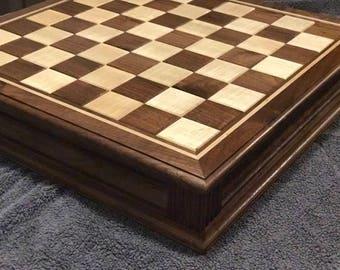 Walnut Chess Set w/ Pieces