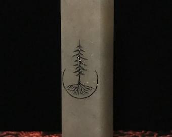 Tree Line Drawing Stone Stamp, Custom stamp, Name stamp, Handmade stamp, Stone stamp, Stone Seal, Chop Stamp Seal, Calligraphy Stamp