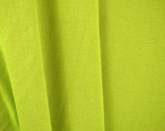 "1/2 YARD, JERSEY KNIT, Chartreuse Green, 62"" Wide Fashion or Craft Fabric, Lightweight Cotton, B21"