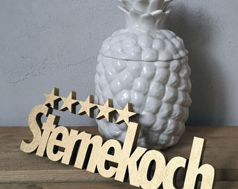 Starred Chef - wood lettering