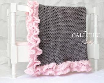 Crochet PATTERN 109 - Foxy Wrap - Crochet Baby Blanket PATTERN 109 - Instant Download PDF