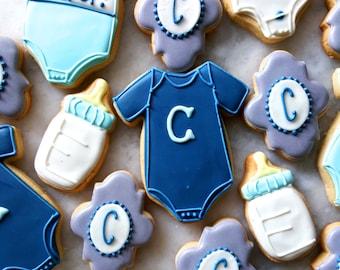 Baby Onesie + Initial Cookie Assortment