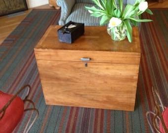 Antique storage chest table