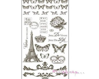Transfers Rub - ons special PARIS KAISERCRAFT scrapbooking.*