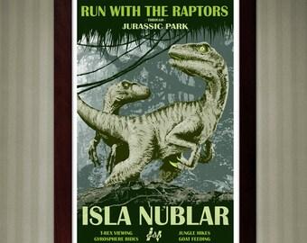 Jurassic Park - Isla Nublar Travel Poster - 11x17
