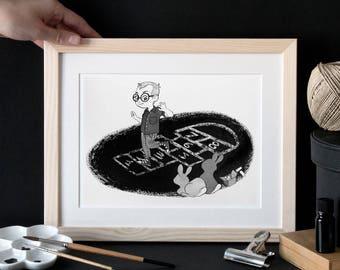 Hopscotch rabbits
