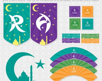 DIY  Ramadan Mubarak Party Theme - Instant Download
