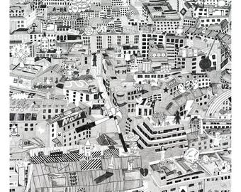 Music City (PRINT) How many Music References can you find? (50cmx50cm)