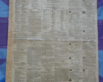 From the Emerald Isle. 1859 Catholic Telegraph Newspaper. Antique Newspaper