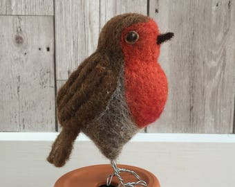 Robin Sculpture Needle felted