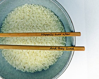 New Personalized Chopsticks, Custom Chopsticks, Bamboo Chopstick, Wedding Favors, Rustic Chopstick, Wedding Chopsticks, Min. Order 5 pair