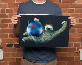 Sloth art print   Sloth Gift   Sloth Print   original from the artist, 11x17 inches