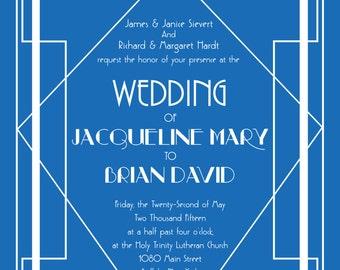 Art Deco Wedding Invitation Package