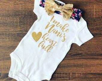 I Make Nani's Heart Full | I Love My Nani Shirt | I Love My Nani Bodysuit | Only The Best Moms Get Promoted to Nani | Nani to Be | Nani Gift