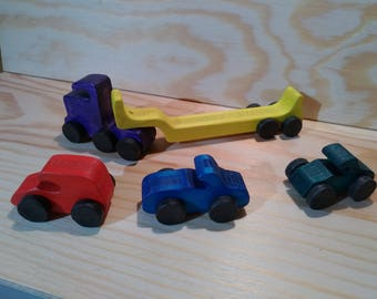 Miniature car: set of 3 more truck carrier (tree)