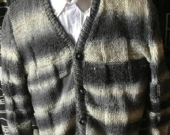 Different grey cardigans and squares
