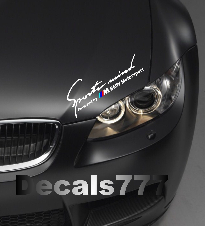 Sports Mind Powered By Audi Sport Vinyl Decal Sticker: Sports Mind Powered By ///M BMW Motorsport E36 E39 E46 E60 M3