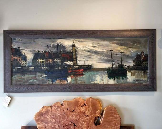 Signed M. Edward Griff Listed Artist, original oil on canvas  Custom Framed