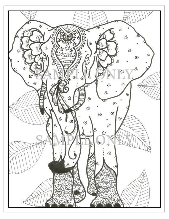 Henna Elefant Ausmalbilder