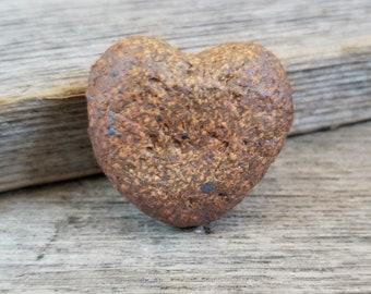 Heart shaped focal - Rustic ceramic focal  - ceramic beads - clay beads - pottery beads - artist beads - handmade beads