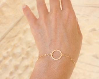 Best friend gift Gold Circle bracelet  karma bracelet  Bracelet gold freindship bracelet -  Dainty gold bracele - Bridesmaid gift