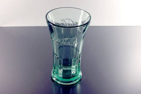 Green Coca Cola Glass, Libbey, Soda Fountain Glass, Restaurant Glass, Heavy Glass, Collectible, 10 Ounce