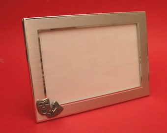 "Comedy Tragedy Masks Picture Frame 4"" x 6"" With Hand Cast Pewter Motif Performing Arts Gift"