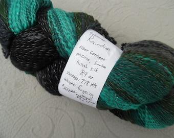 "Handspun yarn, ""Raindrop"" 8.9 oz, 778 yds"