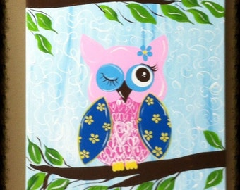 Hoot Owl Painting