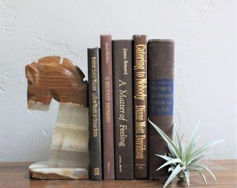 Dark Brown Books, Decorative Books, Wedding Table Decor, Old Books, Bookshelf Decor, Book Lot, Bookcase Decor Books for Staging Coffee Table